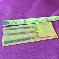 "Micro Diamond  4"" File. 3 Piece Set"