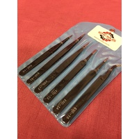 Stainless Steel Tweezer 6 Piece Set. Anti-Magnetic. Free Shipping Aus Wide.